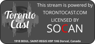 This channel is part of the Torontoast radio network.